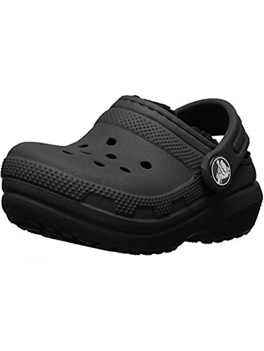 Crocs Kids' Classic Lined Clog  Black/Black  8 M US Toddler
