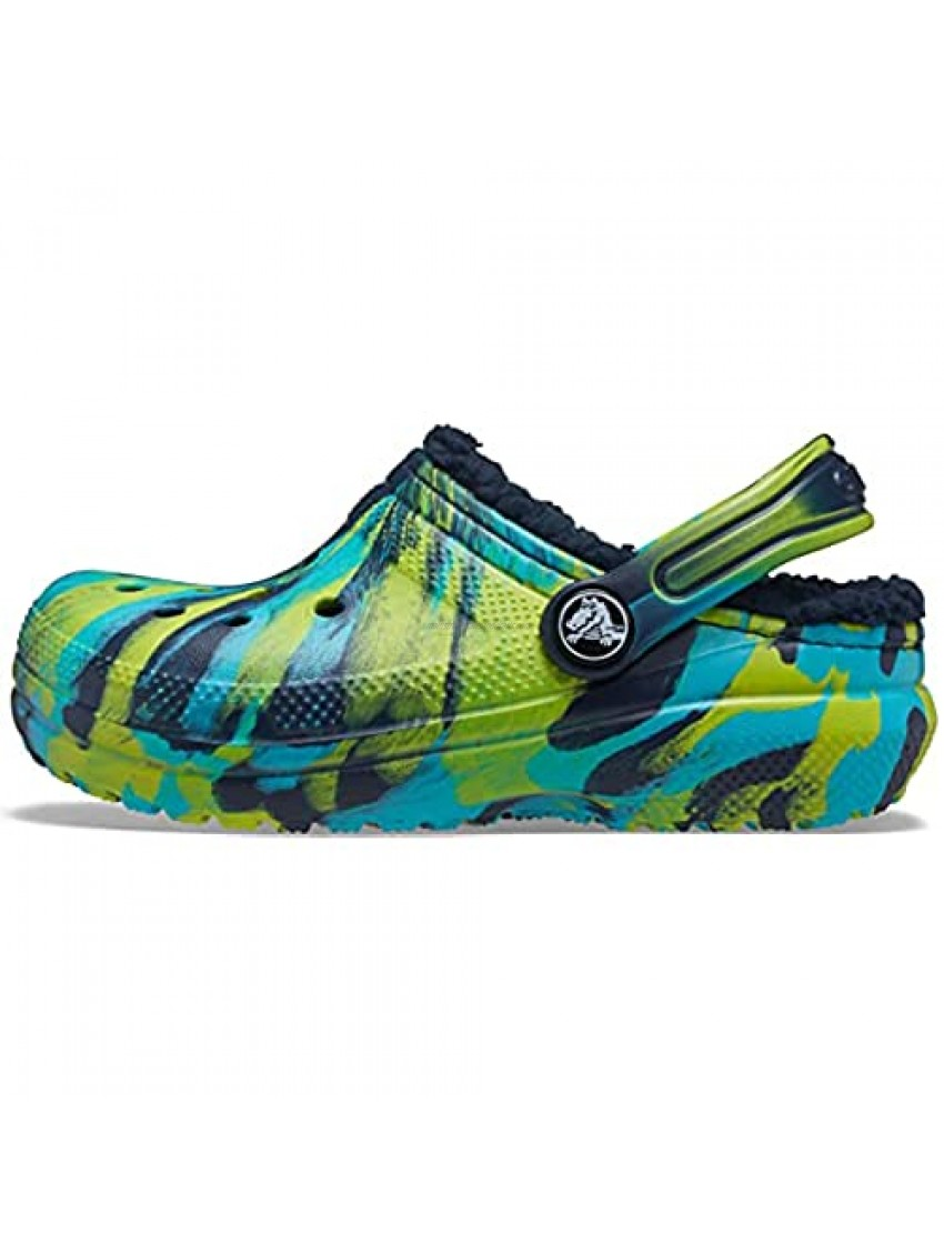 Crocs unisex-child Kids' Classic Marbled Tie Dye Lined Clog | Kids' Slippers